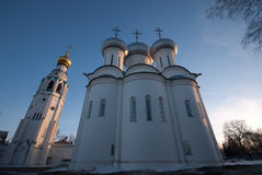 Vologda Kremlin Saint Sophia. Saint Sophia orthodox cathedral and church of Resurrection of Jesus, Vologda Kremlin, Russia stock photo