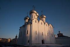 Vologda Kremlin Saint Sophia. Saint Sophia orthodox cathedral and church of Resurrection of Jesus, Vologda Kremlin, Russia Royalty Free Stock Photos