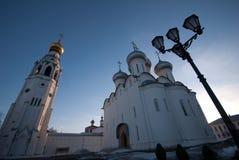 Vologda Kremlin Saint Sophia. Saint Sophia orthodox cathedral and church of Resurrection of Jesus, Vologda Kremlin, Russia stock images