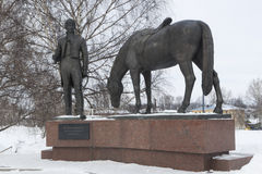Vologda, a monument to Konstantin Batyushkov winter Stock Photography