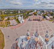 Vologda panorama from bell-tower Stock Images