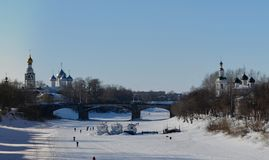 Vologda. River in the city  in Russia Royalty Free Stock Photo
