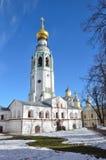 Vologda, Rosja, dzwonkowy wierza Kremlin w Vologda w wczesnej wiośnie fotografia royalty free