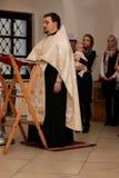 VOLOGDA ROSJA, GRUDZIEŃ, - 25, 2015: Ceremonia objawienia pańskiego dziecko Obrazy Royalty Free