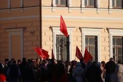 """Vologda, RUSLAND †""""10 MAART: demonstratie van de Krim aan de bijeenkomst van Rusland op 10 Maart, 2014 Royalty-vrije Stock Afbeeldingen"""