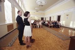 Vologda, RUSSIA – JUNE 6: Rewarding young professionals in the administration of Vologda JUNE 6, 2014 Stock Photo