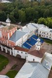 Vologda, Russia, the bird`s-eye view on the Kremlin of Vologda city. Vologda, Russia, ird`s-eye view on the Kremlin of Vologda city Royalty Free Stock Images