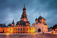 Vologda, Russia. Kremlin square at night Stock Images