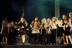 Vologda, RUSSIE - 1er mars : Membres du théâtre des enfants des sources de mode dans la représentation de la reine de neige Photo libre de droits