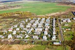 Vologda stadsfågelperspektiv Aerophotographing Vologda hus Fotografering för Bildbyråer