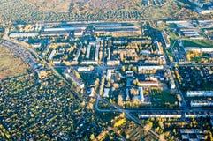 Vologda stadsfågelperspektiv Aerophotographing Vologda hus Royaltyfria Foton