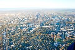 Vologda stadsfågelperspektiv Aerophotographing Vologda hus Royaltyfria Bilder