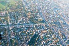 Vologda stadsfågelperspektiv Aerophotographing Vologda hus Royaltyfri Foto