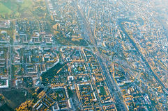 Vologda stadsfågelperspektiv Aerophotographing Vologda hus Royaltyfri Fotografi