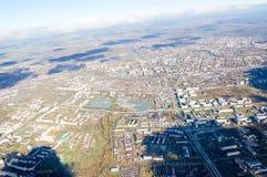 Vologda stadsfågelperspektiv Aerophotographing Vologda hus Royaltyfri Bild