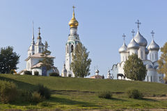 Vologodskie temples on Cathedral Hill. Russia Royalty Free Stock Photography