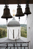 Volokolamsk克里姆林宫,俄罗斯 寺庙的看法从钟楼的 库存照片
