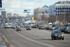 Volokolamskoye Highway. Moscow Stock Images