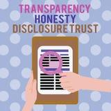 Volontà corporativa dell'agenda politica concettuale della foto di fiducia di rivelazione di onestà della trasparenza di rapprese illustrazione vettoriale