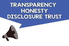 Volontà corporativa dell'agenda politica di significato di concetto di fiducia di rivelazione di onestà della trasparenza di test royalty illustrazione gratis