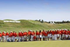 Volontärer på golffransmannen öppnar 2015 Royaltyfria Foton