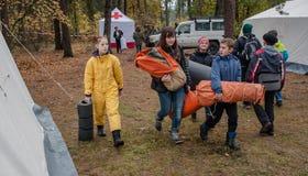 Volontari della croce rossa Immagini Stock