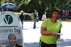 Volontario di campagna del partito liberale Fotografia Stock Libera da Diritti