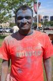 Volontario indiano di Holi Fotografia Stock Libera da Diritti
