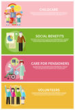Volonteer Childcare Care Pensioners Social Benefit Royalty Free Stock Image