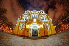 Volorymirs domkyrka på Kiev ukraine Royaltyfria Bilder