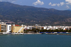 Volos city in Greece. View from the sea Royalty Free Stock Image