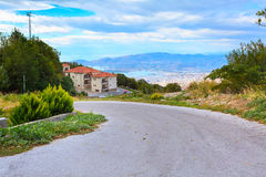 Volos city view from Pelion mount, Greece Stock Images