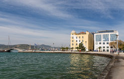 Volos city waterfront, Thessaly, Greece Royalty Free Stock Images