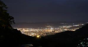 Volos på natten Fotografering för Bildbyråer