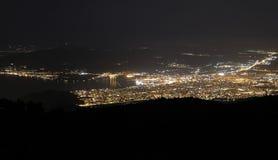 Volos på natten Royaltyfria Bilder