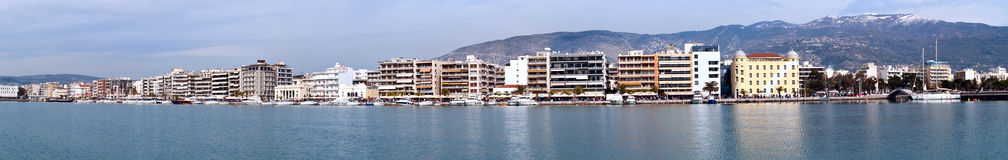 Volos, panoranic view. Volos, Greece, panoranic view from the sea Royalty Free Stock Photography