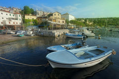 Volosko Small Harbour in Opatija, Croatia Royalty Free Stock Photography