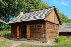 Volovat Oil Press Exterior - Suceava Village Museum Royalty Free Stock Photo