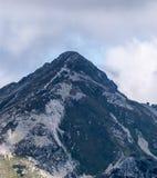 Volovec Wolowiec mountain peak in Western Tatras mountains on slovakian - polish borders. From Nizny Ostredok peak on Otrhance mountain ridge Stock Images