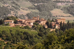 Volpaia, Chianti De mening van Toscanië Royalty-vrije Stock Afbeelding
