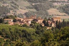 Volpaia, Chianti. Tuscany view Royalty Free Stock Image