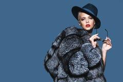 Volpe artica della pelliccia costosa Fotografie Stock