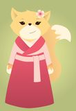 Volpe asiatica royalty illustrazione gratis