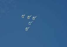 Vols acrobatiques. Image libre de droits