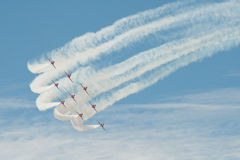 Vols acrobatiques de formation Photo libre de droits