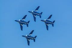 Vols de démonstration d'impulsion bleue Photos libres de droits