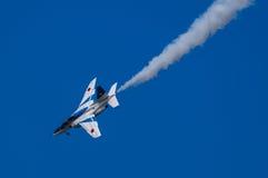 Vols de démonstration d'impulsion bleue Photo stock