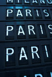 Vols vers Paris, France Photographie stock libre de droits