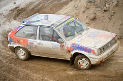 Volskwagen Polo GT, vintage rally car. Royalty Free Stock Image