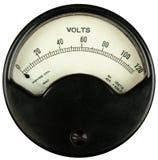 Voltímetro del vintage imagen de archivo libre de regalías